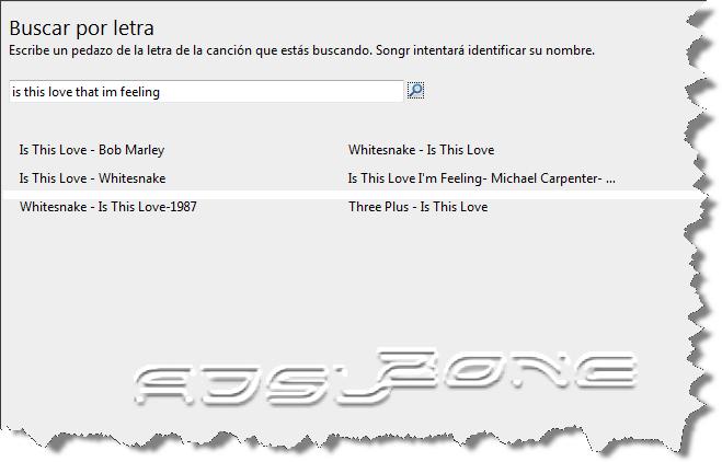 búsqueda por letra en song