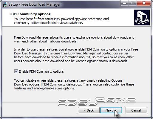 fdm  community options