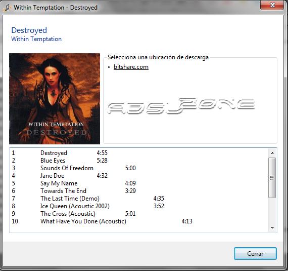 infomación de descarga disco completo en songr