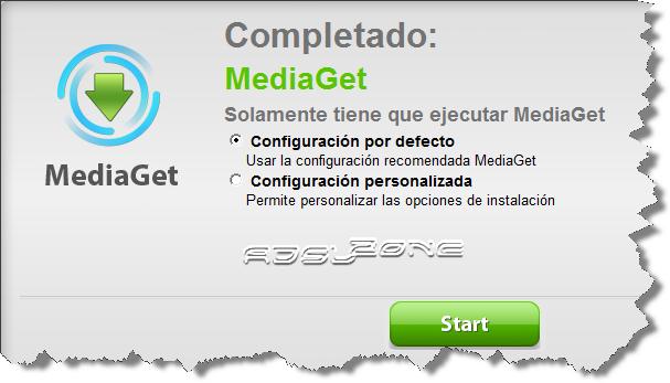 opciones configuración mediaget