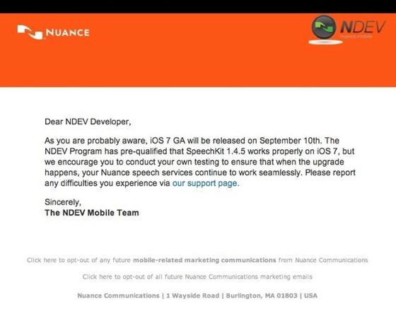 iOS 7 llegará el 10 de septiembre