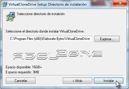 instalar Virtual Clone Drive