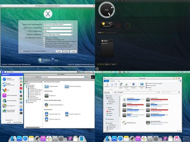 OS X Mavericks Transformation Pack foto