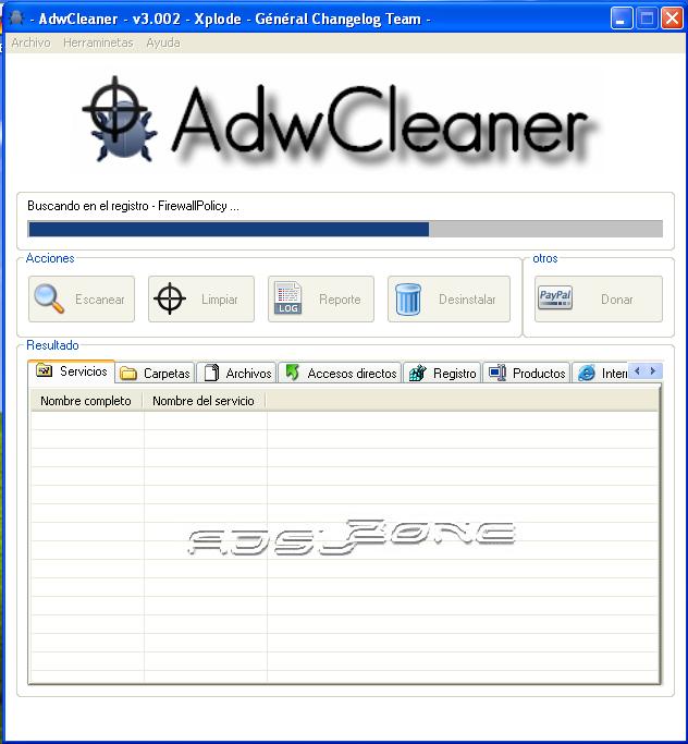 escanear con adwcleaner