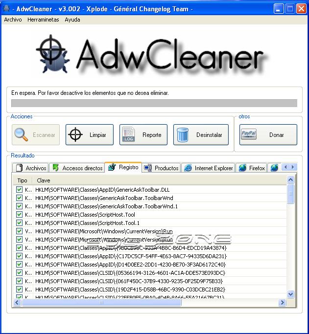 resultados adwcleaner