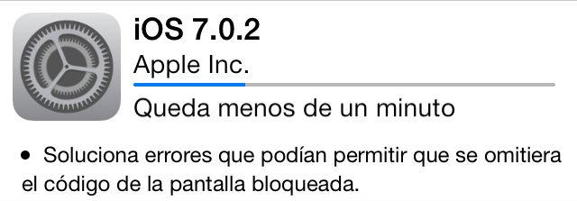 Actualización de iOS 7