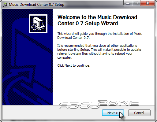 instalar music download center