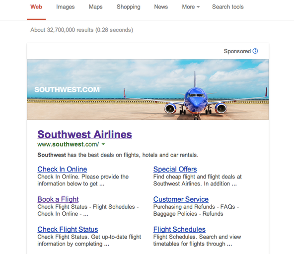 Banner de Google