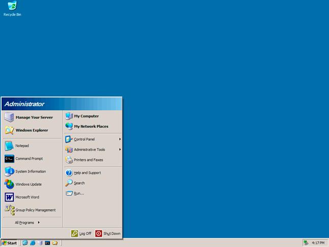 Windows 2003 server