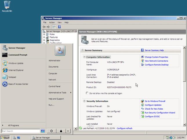 Windows 2008 server