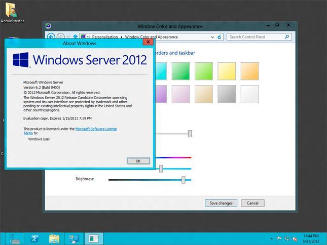Windows 2012 server