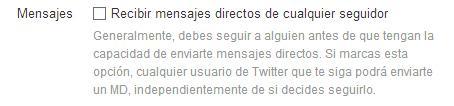 DM en Twitter