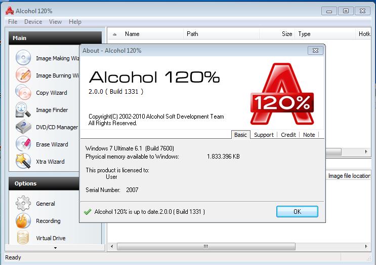 Alcohol 120% 2.0.3.8806 Full Crack