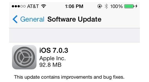 Nueva actualización de iOS