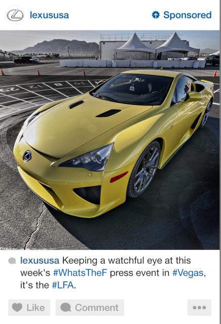 Anuncio de un Lexus