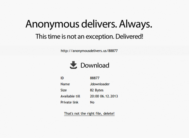 Anonymous Delivers foto 1
