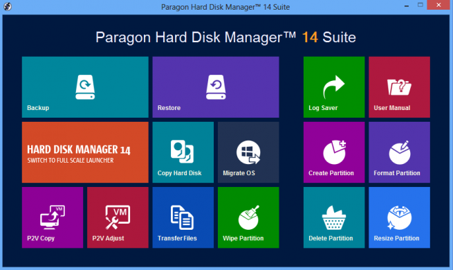 Paragon Hard Disk Manager 14 express foto 1