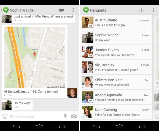 Google Hangouts 2.0