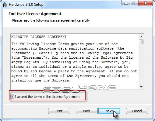 acuerdo licencia hardwipe