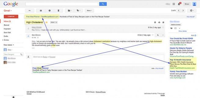 Ejemplo de correo de Gmail
