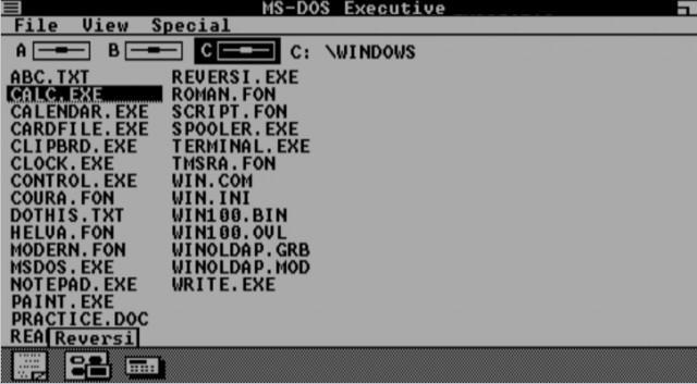 Windows 1.01 desde el navegador