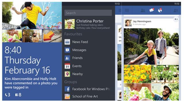 App de Facebook en WP 8
