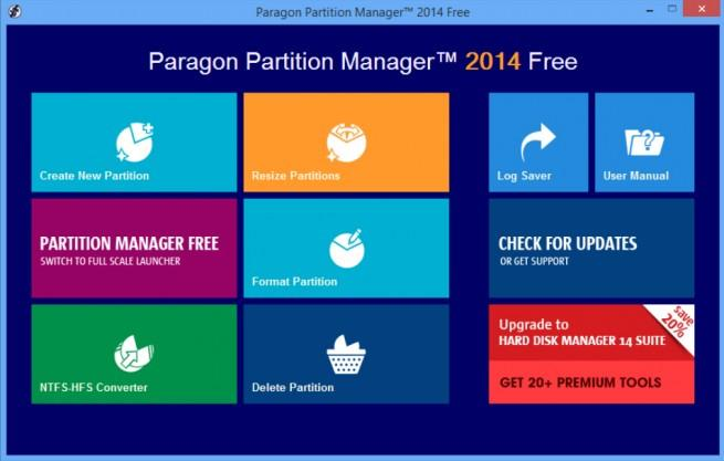 Paragon Partition Manager 2014 foto