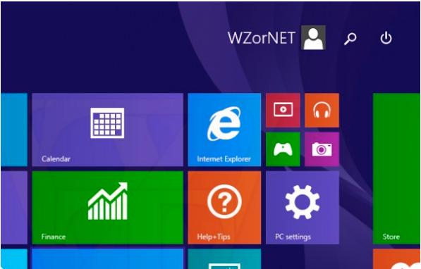 botón apagar windows 8 en pantalla inicio