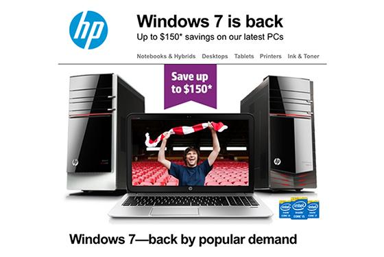 'Windows 7 is back'