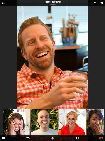 Hangouts en iPad