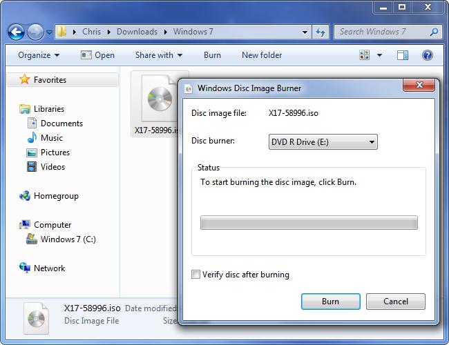 Descarga de Windows 7