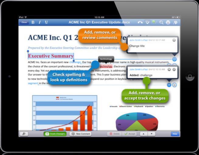 Quickoffice en el iPad