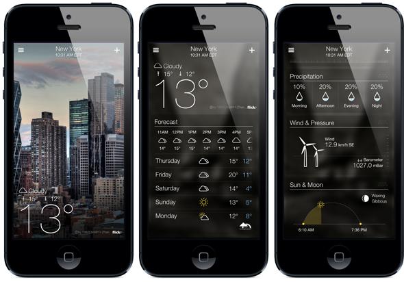 Tiempo en iOS 7