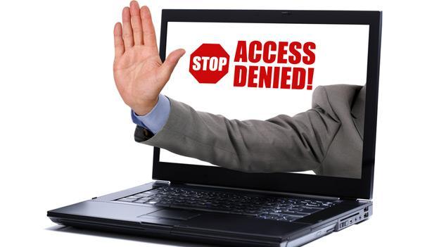 Bloqueo en la web