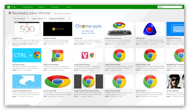 Windows Store estafas VLC Chrome foto 2