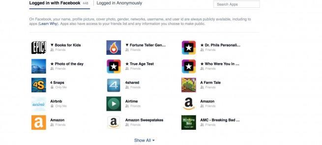 Nueva página de gestión de apps