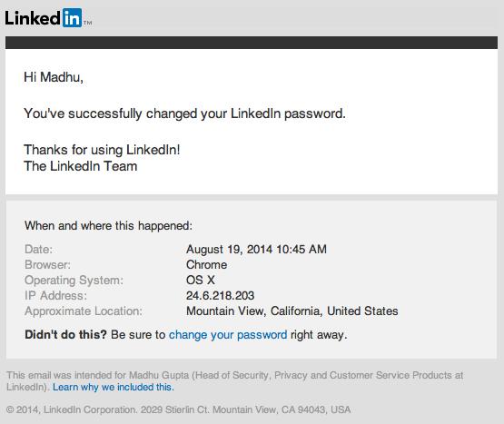 Correo de LinkedIn