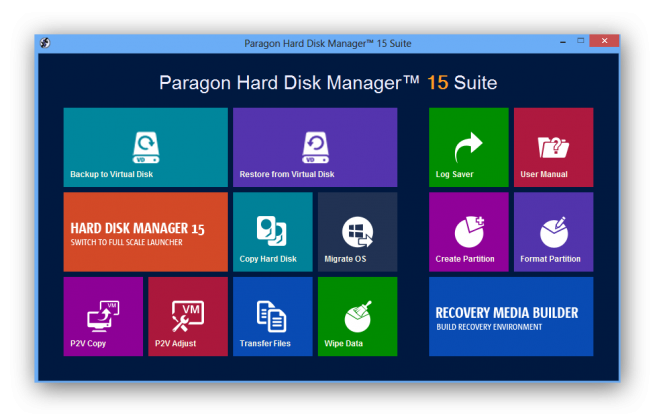 Paragon Hard Disk Manager Suite 15