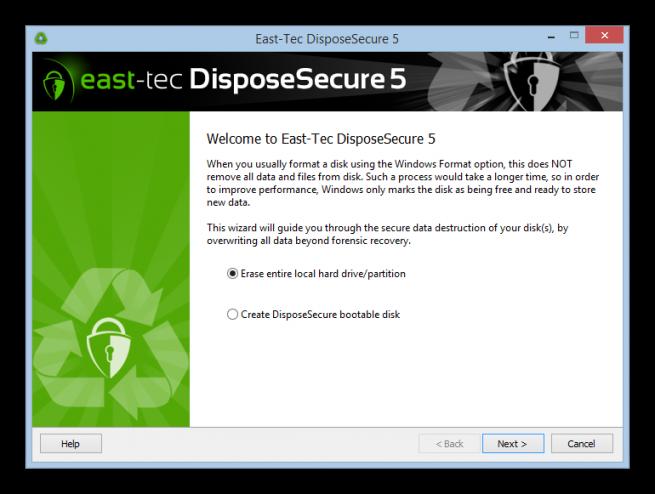 DisposeSecure borrado seguro disco duro foto 1
