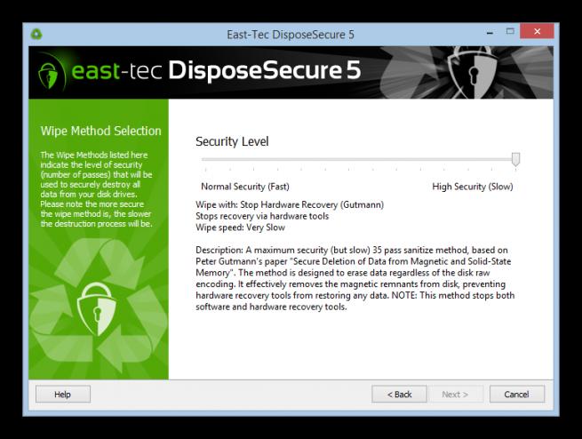 DisposeSecure borrado seguro disco duro foto 3