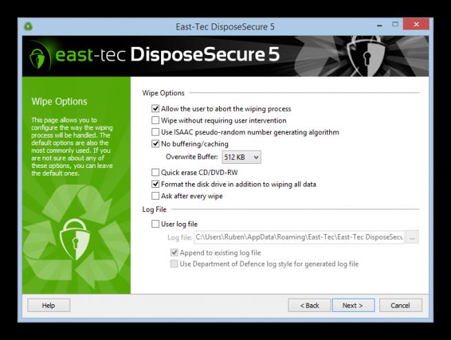 DisposeSecure borrado seguro disco duro foto 4