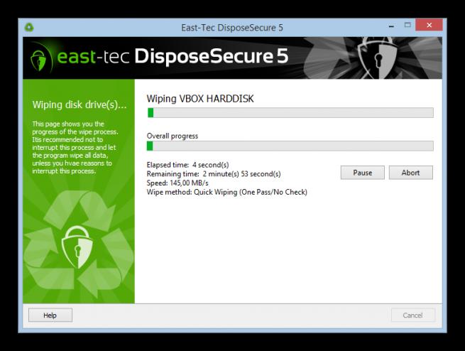 DisposeSecure borrado seguro disco duro foto 6