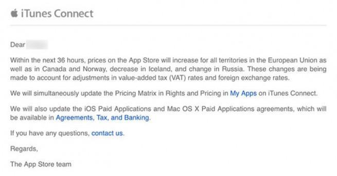 Comunicado de Apple sobre el App Store