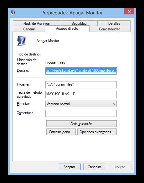 Acceso directo apagar monitor tutorial foto 4
