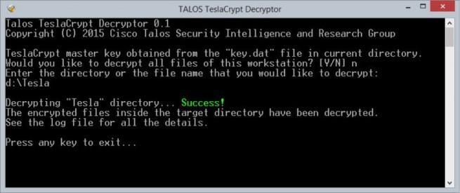 Decryption-Tool-for-TeslaCrypt-Ransomware-Response-Kit