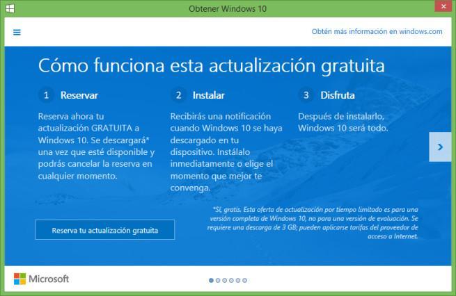 Actualizar a Windows 10 gratis