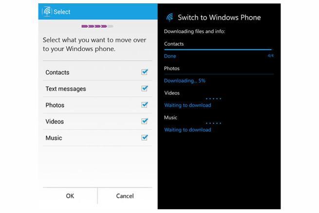 Cambiar a Windows Phone