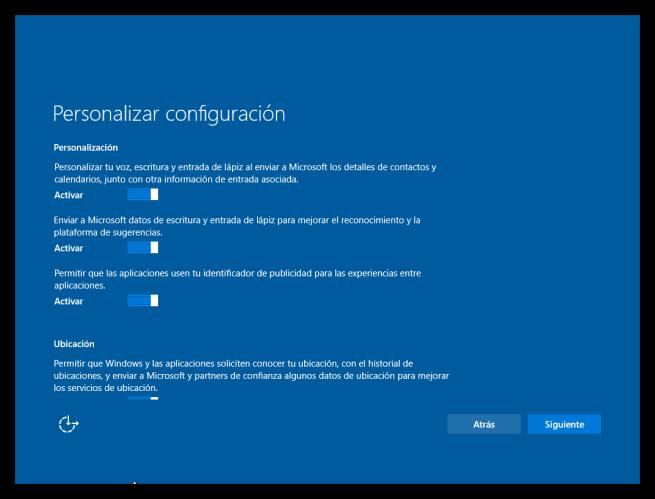 Configuracion inicial windows 10 tutorial foto 2