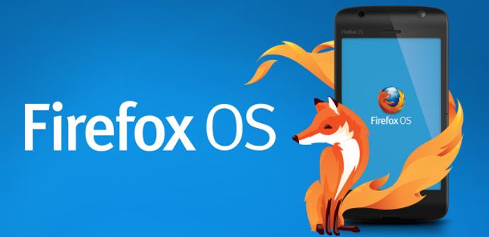 Logotipo de Firefox OS en un smartphone