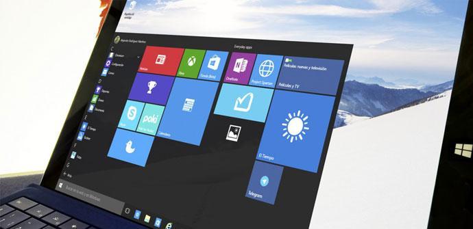 Windows 10 en la Surface